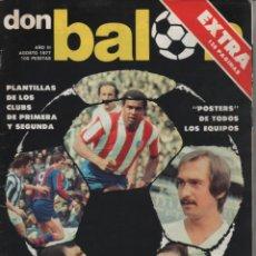 Coleccionismo deportivo: LOTE DE 4 REVISTAS DON BALÓN EXTRA TEMPORADAS 1977-78 1978-79 1979-80 Y 1980-81. Lote 152434178