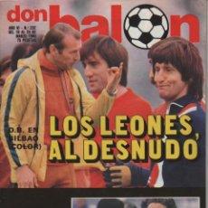 Coleccionismo deportivo: LOTE 2 REVISTAS DON BALÓN NÚMEROS 181 Y 232 CON ARTÍCULOS Y POSTER ATHLETIC CLUB DE BILBAO 1979 1980. Lote 152435070