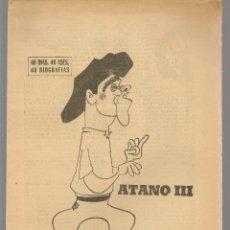 Colecionismo desportivo: 40 DIAS, 40 ASES, 40 BIOGRAFIAS. ATANO III. EL CAMPEÓN DE LAS MANOS. MARCA, 10 JULIO 1967. (ST/A1). Lote 210304115