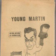 Coleccionismo deportivo: 40 DIAS, 40 ASES, 40 BIOGRAFIAS. YOUNG MARTIN. EL CADDIE DE LOS PUÑOS HIERRO MARCA, 24/7/1967(ST/A1). Lote 164556998