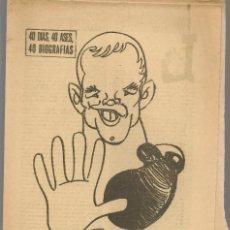 Coleccionismo deportivo: 40 DIAS, 40 ASES, 40 BIOGRAFIAS. INGEMAR JOHANSSON. MARCA, 9 AGOSTO 1965. (ST/A1). Lote 152470630