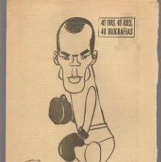 Coleccionismo deportivo: 40 DIAS, 40 ASES, 40 BIOGRAFIAS. FRED GALIANA. MARCA, 4 AGOSTO 1965. (ST/A1). Lote 152470878