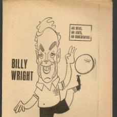 Coleccionismo deportivo: 40 DIAS, 40 ASES, 40 BIOGRAFIAS. BILLY WRIGHT. MARCA, 19 AGOSTO 1970. (ST/A1). Lote 152476190