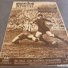 Coleccionismo deportivo: VIDA DEPORTIVA Nº:335(11-2-52)MANUEL CROS(C.D.EUROPA)BARÇA 9 GIJÓN 0,RIVER PLATE EN EUROPA.. Lote 152841226