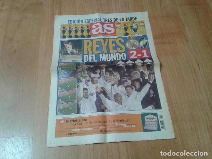 Coleccionismo deportivo: Real Madrid - Intercontinental - Edición Especial - Periódico AS - 1/12/1998 - Reyes del mundo - Foto 2 - 152869538