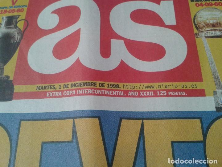 Coleccionismo deportivo: Real Madrid - Intercontinental - Edición Especial - Periódico AS - 1/12/1998 - Reyes del mundo - Foto 3 - 152869538