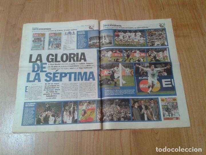 Coleccionismo deportivo: Real Madrid - Intercontinental - Edición Especial - Periódico AS - 1/12/1998 - Reyes del mundo - Foto 9 - 152869538