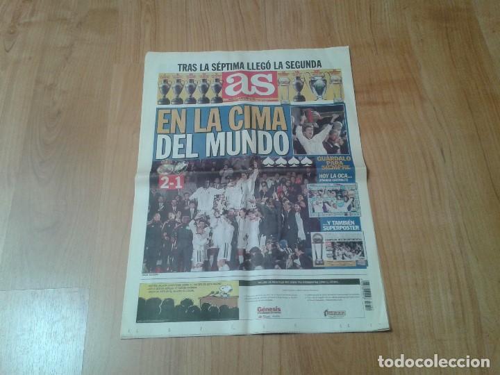 Coleccionismo deportivo: Real Madrid - Copa Intercontinental - Periódico AS - 2/12/1998 - En la cima del Mundo - Foto 2 - 152869818