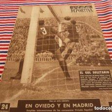 Collectionnisme sportif: VIDA DEPORTIVA Nº:424(2-11-53)PAZOS INTERNACIONAL CON ESPAÑA,BARÇA 1 OSASUNA 0. Lote 153050766