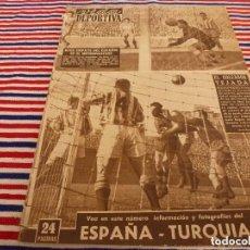 Coleccionismo deportivo: VIDA DEPORTIVA Nº:434(11-1-54)ESPAÑA-TURQUIA,BARÇA 6 R.SOCIEDAD 0,CÉSAR,SABADELL 4 ESCORIAZA,PIRELLI. Lote 208867773