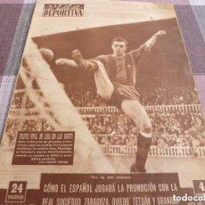 Coleccionismo deportivo: VIDA DEPORTIVA Nº:499(11-4-55)BARÇA 1 HÉRCULES 1 GRAN PAZOS!!!R.MADRID CAMPEÓN LIGA !!!. Lote 153354590