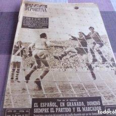 Coleccionismo deportivo: VIDA DEPORTIVA Nº:508(13-6-55)DEBUT OFICIAL DI STEFANO EN EL BARÇA 1 VASCO DE GAMA 0.. Lote 153358074