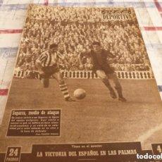 Coleccionismo deportivo: VIDA DEPORTIVA Nº:527(24-10-55)ESPAÑOL OBRAS EN SARRIÁ,BARÇA 3 ALAVÉS 1,GALIANA(BOXEO)U.GENEVE. Lote 153417274