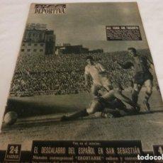Coleccionismo deportivo: VIDA DEPORTIVA Nº:529(7-11-55) AT.MADRID 2 ATH.BILBAO 3 PAZOS,BARÇA 3 SEVILLA 1. Lote 153417366