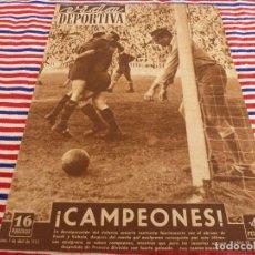 Coleccionismo deportivo: VIDA DEPORTIVA Nº:343(7-4-52)!!! BARÇA 7 LAS PALMAS 0 !!! CAMPEONES LIGA 1951-52 !!!!. Lote 153447162
