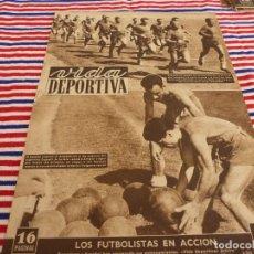 Coleccionismo deportivo: VIDA DEPORTIVA Nº:363(25-8-52)SCOPELLI(ESPAÑOL)EL BARÇA EN LES CORTS,HELENIO HERRERA. Lote 153461126