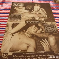 Colecionismo desportivo: VIDA DEPORTIVA Nº:365(8-9-52)LA VUELTA Y MUEBLES BAGUES,EL VALENCIA,PEDRO SANT,BEISBOL EN ROMA. Lote 153461874