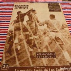 Coleccionismo deportivo: VIDA DEPORTIVA Nº:371(20-10-52)VALLADOLID 0 ESPAÑOL 1,BARÇA 3 SANTANDER 1,RAY ROBINSON(BOXEO). Lote 153462902