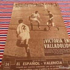 Coleccionismo deportivo: VIDA DEPORTIVA Nº:481(6-12-54)ESPAÑOL 1 VALENCIA 1,VALLADOLID 1 BARÇA 2,R.MADRID 5 CORUÑA 1.. Lote 153463314