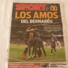 Collezionismo sportivo: SPORT28-2-19)!!!R.MADRID 0 BARÇA 3 !!!F.C.BARCELONA A LA FINAL DE COPA !!!!. Lote 153515650