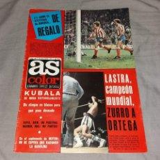Coleccionismo deportivo: REVISTA AS COLOR. Nº344, 20 DICIEMBRE 1977. BUEN ESTADO, PÓSTER IRIONDO Y FOTO-PÓSTER DE FELIPE. Lote 153582722