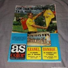 Coleccionismo deportivo: REVISTA AS COLOR. Nº373, 11 JULIO 1978. BUEN ESTADO, PÓSTER KRANKL (Y SUPLEMENTO). Lote 153582934