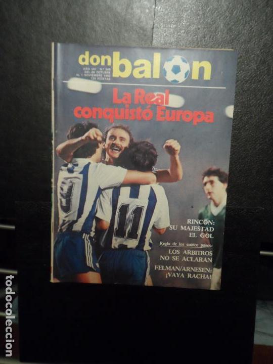 DON BALON Nº 368 1982 PORTADA Y REPORTAJE COLOR REAL SOCIEDAD VS CELTIC GLASGOW COPA EUROPA (Coleccionismo Deportivo - Revistas y Periódicos - Don Balón)