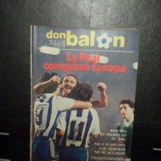 Coleccionismo deportivo: DON BALON Nº 368 1982 PORTADA Y REPORTAJE COLOR REAL SOCIEDAD VS CELTIC GLASGOW COPA EUROPA. Lote 153590238
