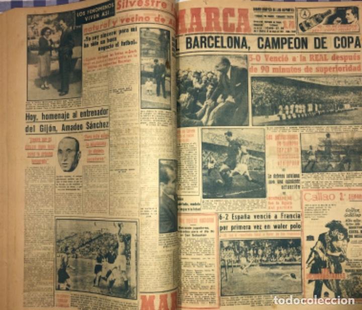 MARCA- DIARIO GRAFICO DE DEPORTES - AÑO 1.951 - UN VOLUMEN CON 72 EJEMPLARES (Coleccionismo Deportivo - Revistas y Periódicos - Marca)
