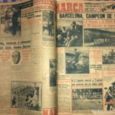 Coleccionismo deportivo: MARCA- DIARIO GRAFICO DE DEPORTES - AÑO 1.951 - UN VOLUMEN CON 72 EJEMPLARES. Lote 153827270