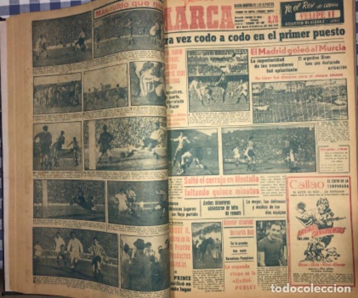 Coleccionismo deportivo: MARCA- DIARIO GRAFICO DE DEPORTES - AÑO 1.951 - UN VOLUMEN CON 72 EJEMPLARES - Foto 3 - 153827270