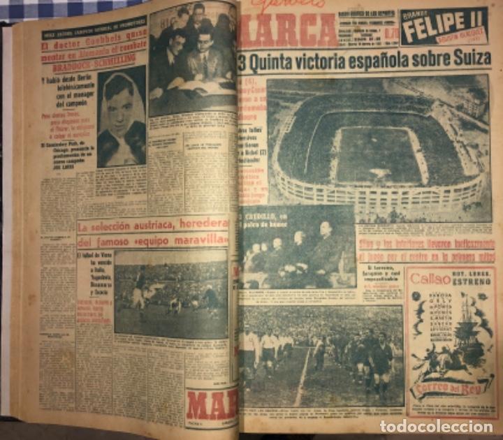 Coleccionismo deportivo: MARCA- DIARIO GRAFICO DE DEPORTES - AÑO 1.951 - UN VOLUMEN CON 72 EJEMPLARES - Foto 5 - 153827270