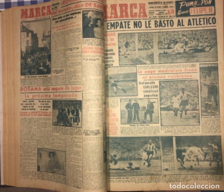 Coleccionismo deportivo: MARCA- DIARIO GRAFICO DE DEPORTES - AÑO 1.951 - UN VOLUMEN CON 72 EJEMPLARES - Foto 8 - 153827270