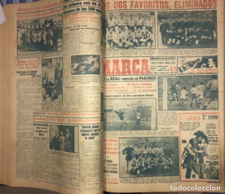 Coleccionismo deportivo: MARCA- DIARIO GRAFICO DE DEPORTES - AÑO 1.951 - UN VOLUMEN CON 72 EJEMPLARES - Foto 9 - 153827270