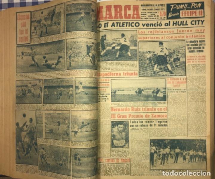 Coleccionismo deportivo: MARCA- DIARIO GRAFICO DE DEPORTES - AÑO 1.951 - UN VOLUMEN CON 72 EJEMPLARES - Foto 10 - 153827270