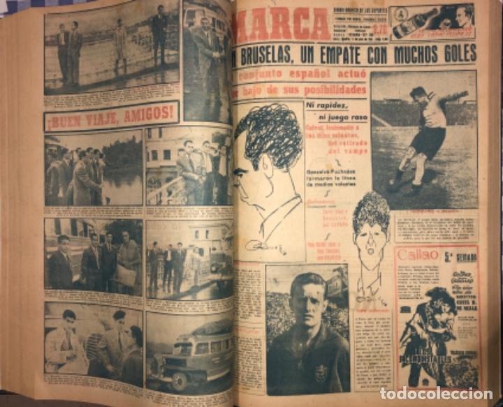 Coleccionismo deportivo: MARCA- DIARIO GRAFICO DE DEPORTES - AÑO 1.951 - UN VOLUMEN CON 72 EJEMPLARES - Foto 11 - 153827270