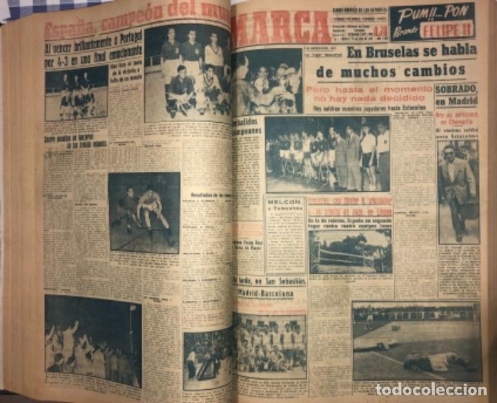 Coleccionismo deportivo: MARCA- DIARIO GRAFICO DE DEPORTES - AÑO 1.951 - UN VOLUMEN CON 72 EJEMPLARES - Foto 12 - 153827270