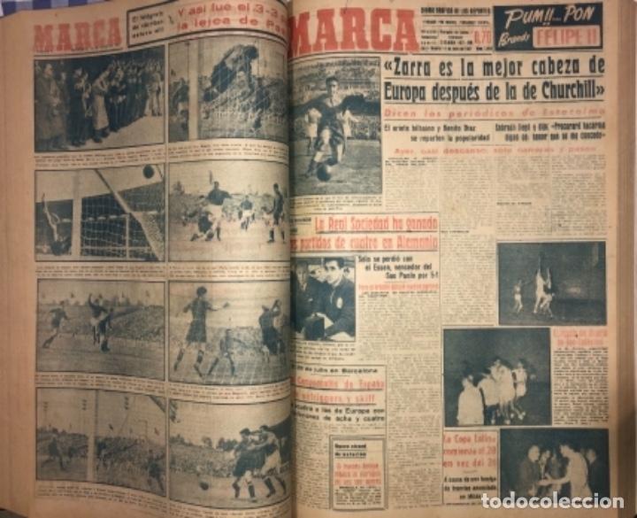 Coleccionismo deportivo: MARCA- DIARIO GRAFICO DE DEPORTES - AÑO 1.951 - UN VOLUMEN CON 72 EJEMPLARES - Foto 13 - 153827270