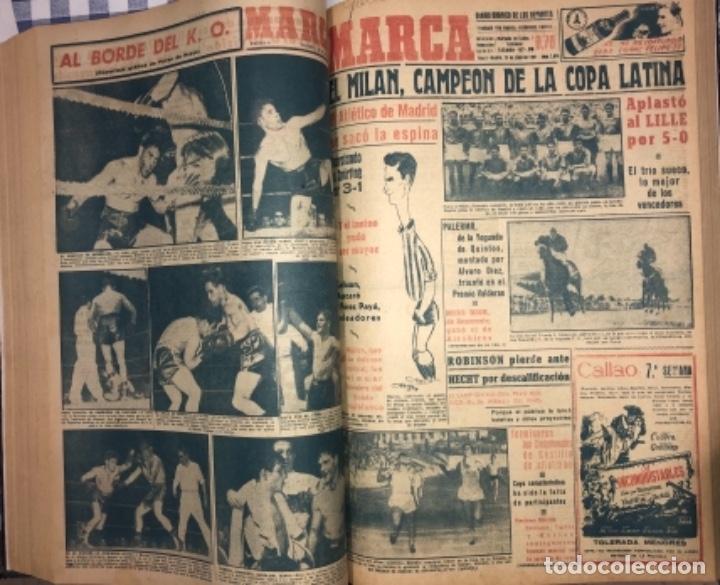Coleccionismo deportivo: MARCA- DIARIO GRAFICO DE DEPORTES - AÑO 1.951 - UN VOLUMEN CON 72 EJEMPLARES - Foto 14 - 153827270