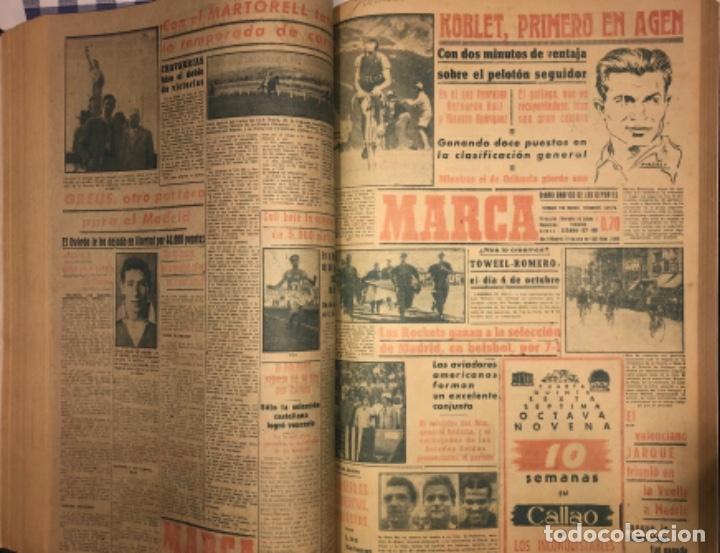 Coleccionismo deportivo: MARCA- DIARIO GRAFICO DE DEPORTES - AÑO 1.951 - UN VOLUMEN CON 72 EJEMPLARES - Foto 15 - 153827270
