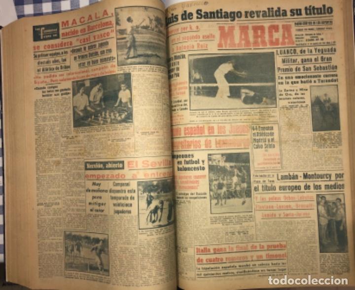 Coleccionismo deportivo: MARCA- DIARIO GRAFICO DE DEPORTES - AÑO 1.951 - UN VOLUMEN CON 72 EJEMPLARES - Foto 17 - 153827270