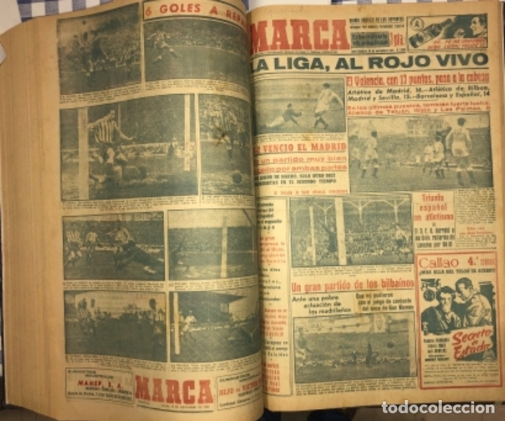 Coleccionismo deportivo: MARCA- DIARIO GRAFICO DE DEPORTES - AÑO 1.951 - UN VOLUMEN CON 72 EJEMPLARES - Foto 20 - 153827270