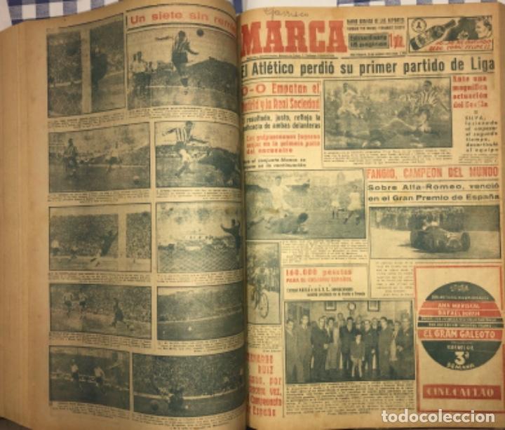 Coleccionismo deportivo: MARCA- DIARIO GRAFICO DE DEPORTES - AÑO 1.951 - UN VOLUMEN CON 72 EJEMPLARES - Foto 19 - 153827270