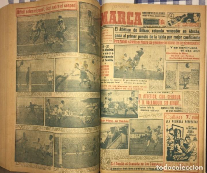 Coleccionismo deportivo: MARCA- DIARIO GRAFICO DE DEPORTES - AÑO 1.951 - UN VOLUMEN CON 72 EJEMPLARES - Foto 21 - 153827270