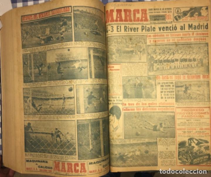 Coleccionismo deportivo: MARCA- DIARIO GRAFICO DE DEPORTES - AÑO 1.951 - UN VOLUMEN CON 72 EJEMPLARES - Foto 22 - 153827270