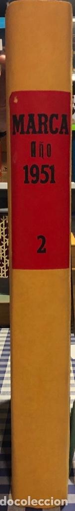 Coleccionismo deportivo: MARCA- DIARIO GRAFICO DE DEPORTES - AÑO 1.951 - UN VOLUMEN CON 72 EJEMPLARES - Foto 25 - 153827270