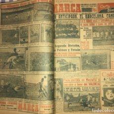 Coleccionismo deportivo: MARCA- DIARIO GRAFICO DE DEPORTES- AÑO 1.952- UN VOLUMEN CON 52 EJEMPLARES. Lote 153827750