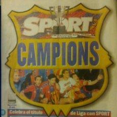 Coleccionismo deportivo: DIARIO SPORT 19 ABRIL 1998 CAMPIONS BARÇA FC BARCELONA CAMPEÓN LIGA 1997/98. Lote 154176986