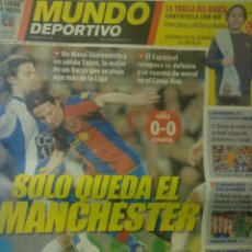 Coleccionismo deportivo: MUNDO DEPORTIVO 22 ABRIL 2008 DERBY BARÇA ESPANYOL MESSI. Lote 154180838