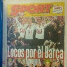 Coleccionismo deportivo: DIARIO SPORT 20 ABRIL 1998 CAMPIONS BARÇA FC BARCELONA CAMPEÓN LIGA 1997/98. Lote 154183950